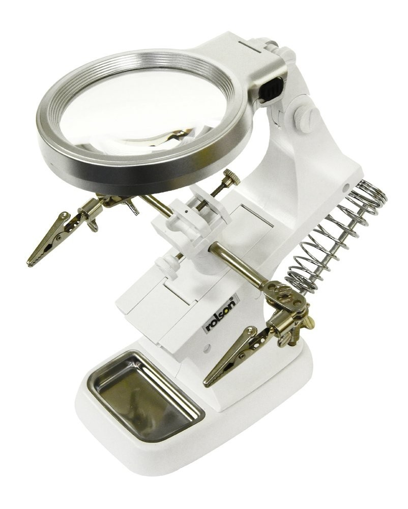 Rolson 10 LED USB Helping Hand Magnifier