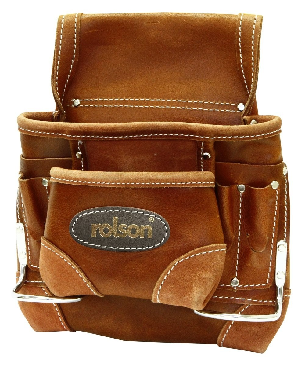 Rolson Professional Nail & Tool Pouch Oiled Top Grain Leather