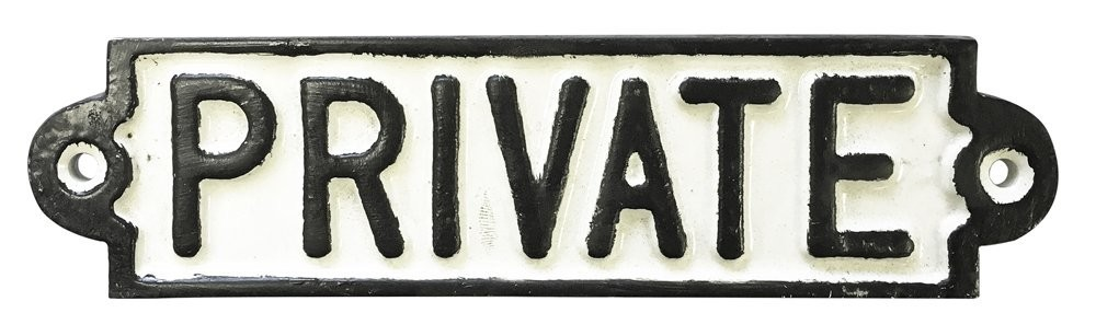 Rolson Cast Iron PRIVATE Sign